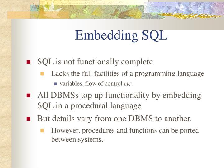 Embedding SQL