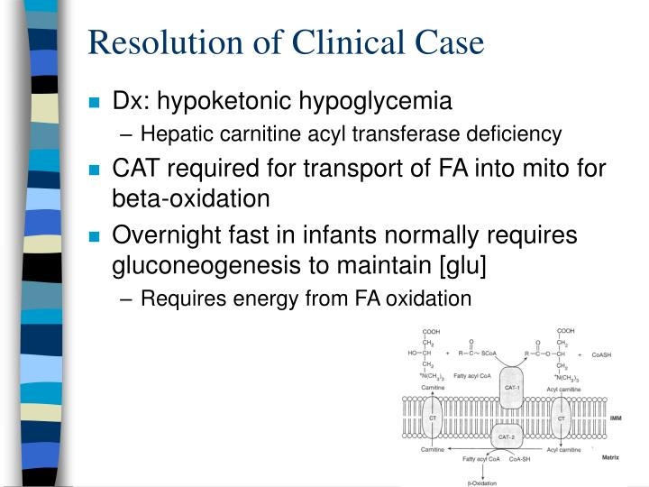 Resolution of Clinical Case