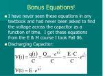bonus equations