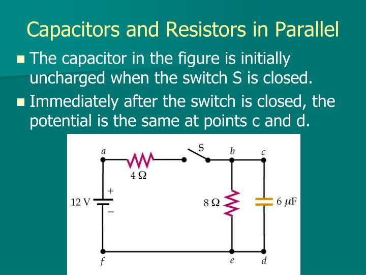 Capacitors and Resistors in Parallel