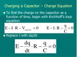 charging a capacitor charge equation