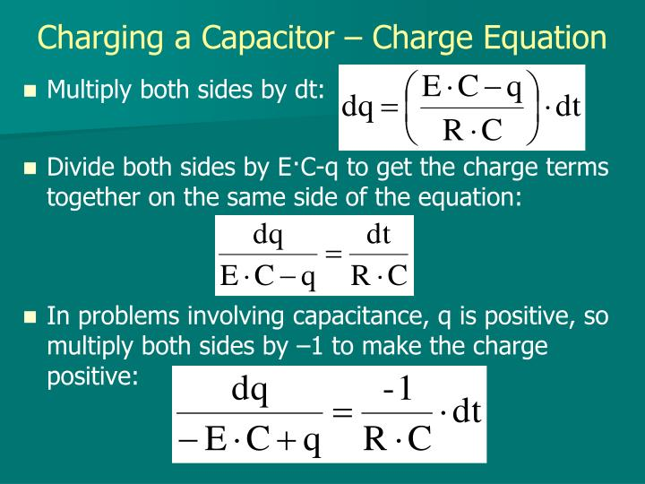Charging a Capacitor – Charge Equation