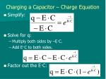 charging a capacitor charge equation6