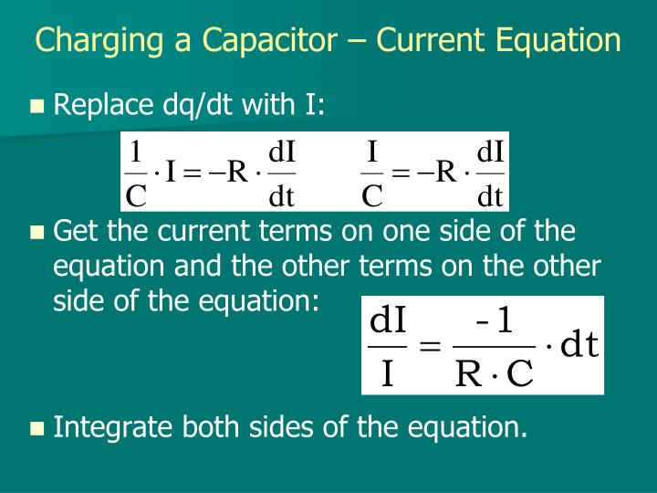 Charging a Capacitor – Current Equation