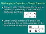 discharging a capacitor charge equation1