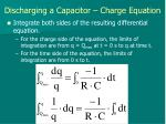 discharging a capacitor charge equation2