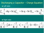 discharging a capacitor charge equation3