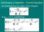 discharging a capacitor current equation2