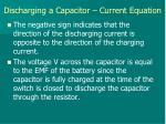 discharging a capacitor current equation3