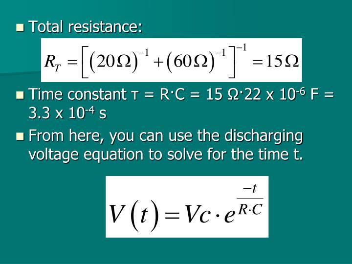 Total resistance: