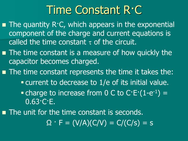 Time Constant R