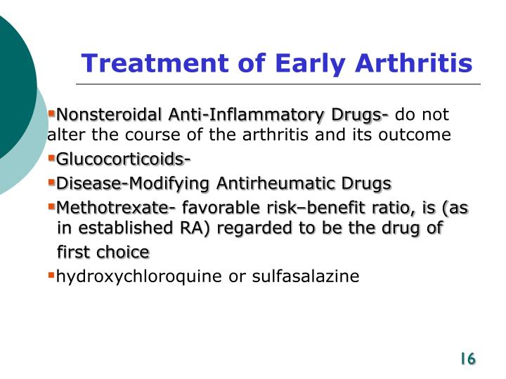 Treatment of Early Arthritis
