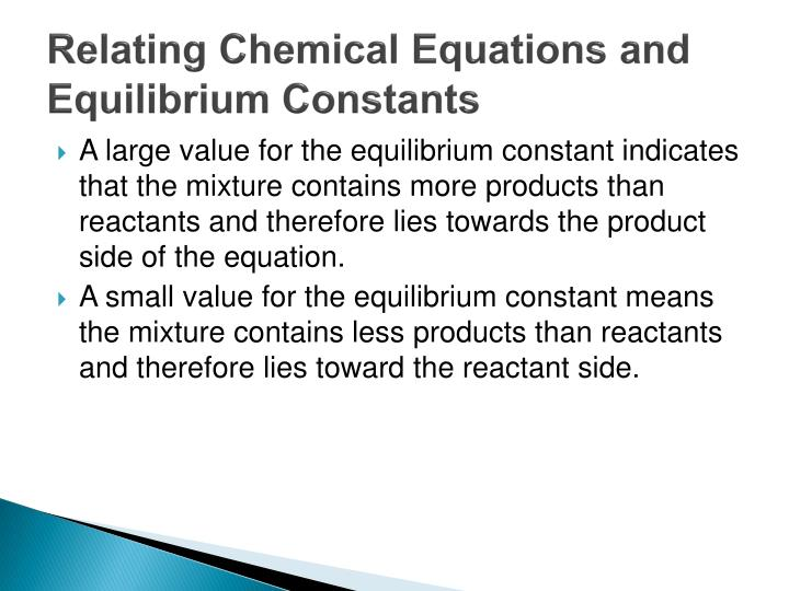 Relating Chemical Equations and Equilibrium Constants