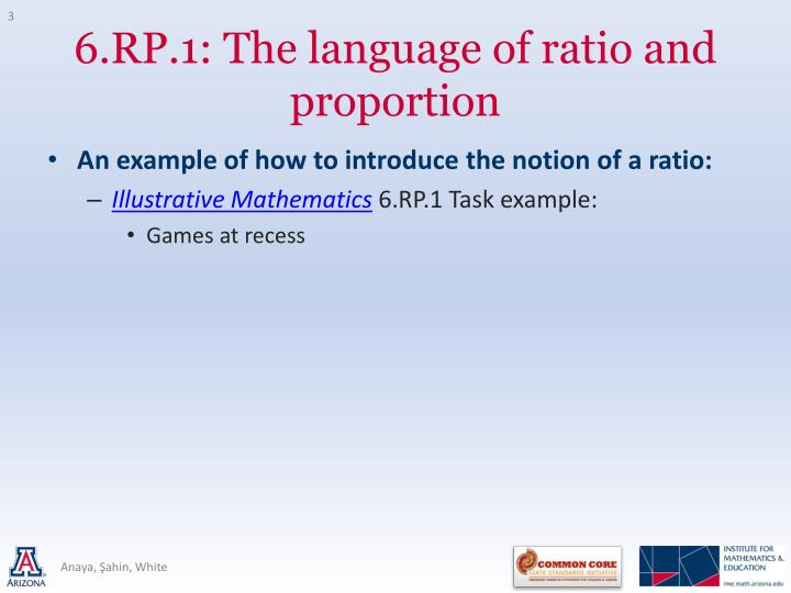 6 rp 1 the language of ratio and proportion