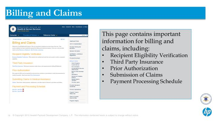 Billing and Claims