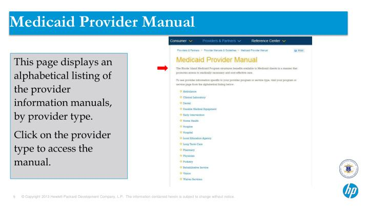 Medicaid Provider Manual