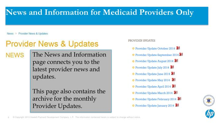 News and Information for Medicaid Providers Only