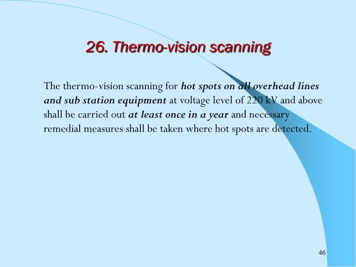 26. Thermo-vision scanning