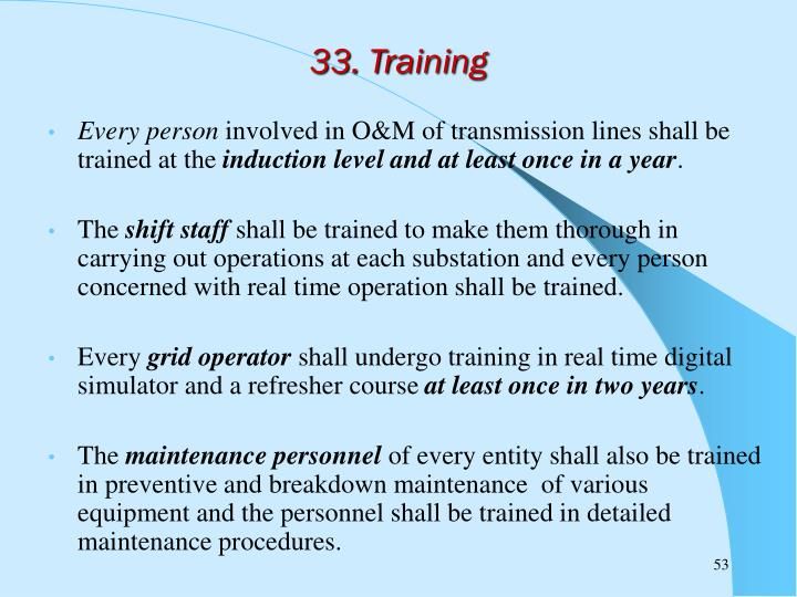 33. Training