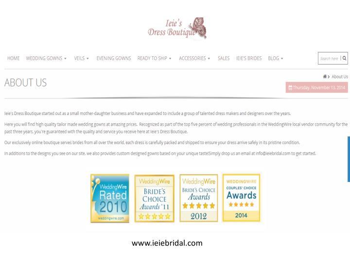 www.ieiebridal.com