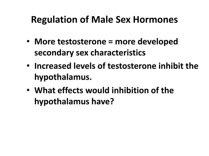 Regulation of Male Sex Hormones