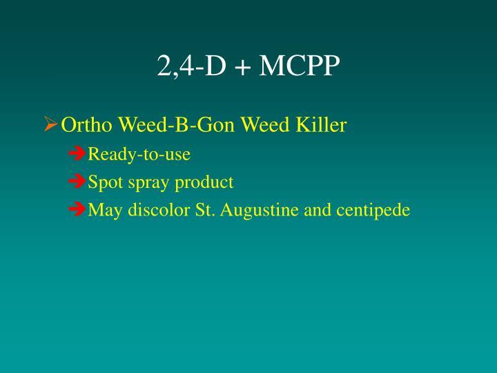2,4-D + MCPP