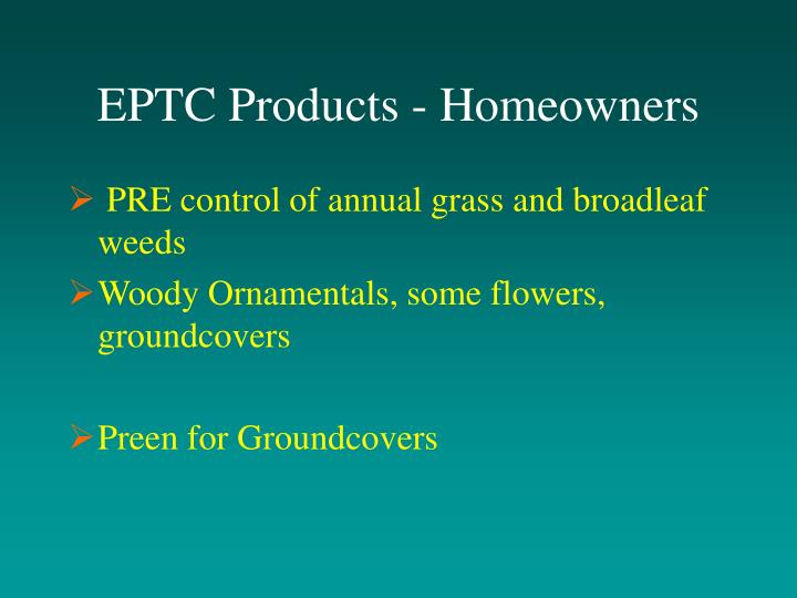 EPTC Products - Homeowners