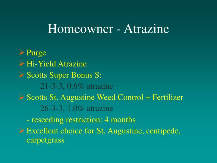 Homeowner - Atrazine