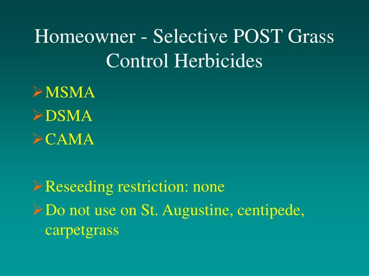 Homeowner - Selective POST Grass Control Herbicides