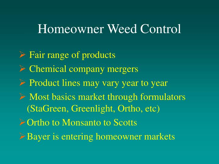 Homeowner Weed Control