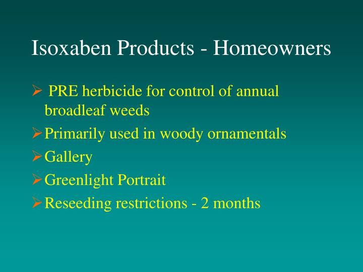 Isoxaben Products - Homeowners