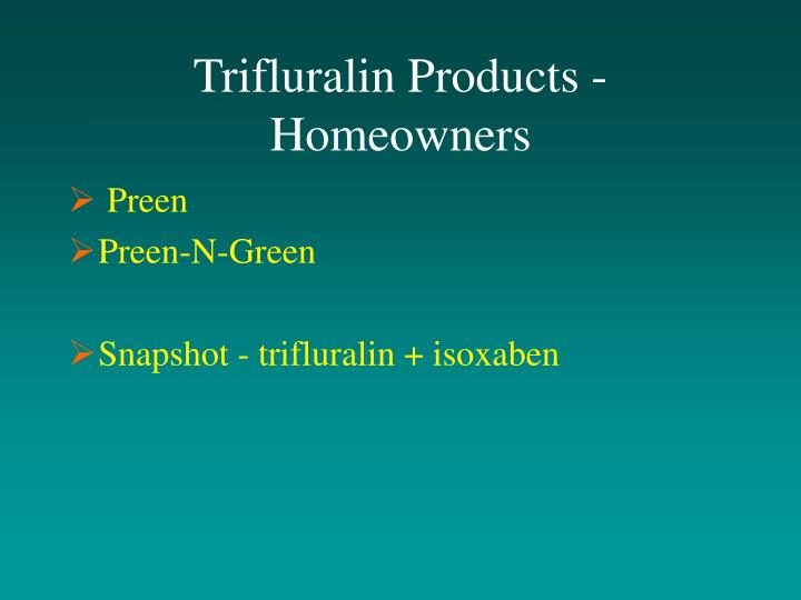 Trifluralin Products - Homeowners