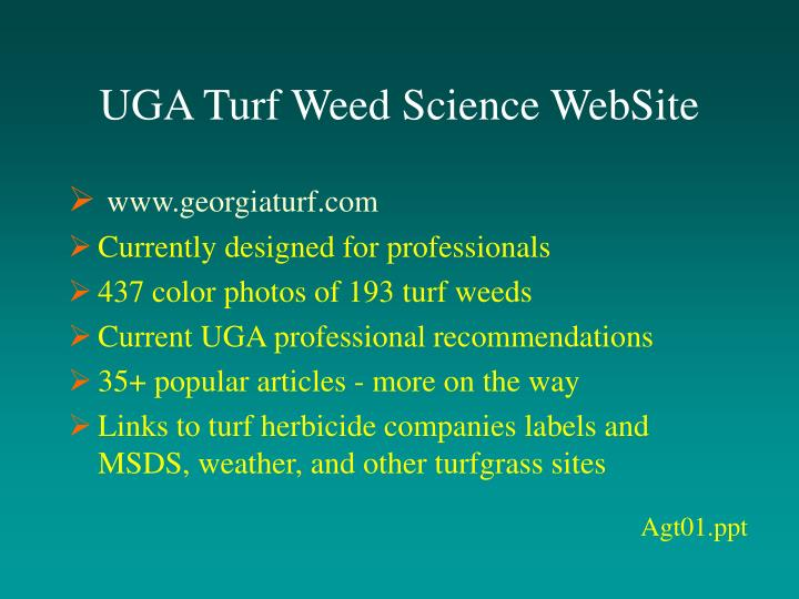 UGA Turf Weed Science WebSite