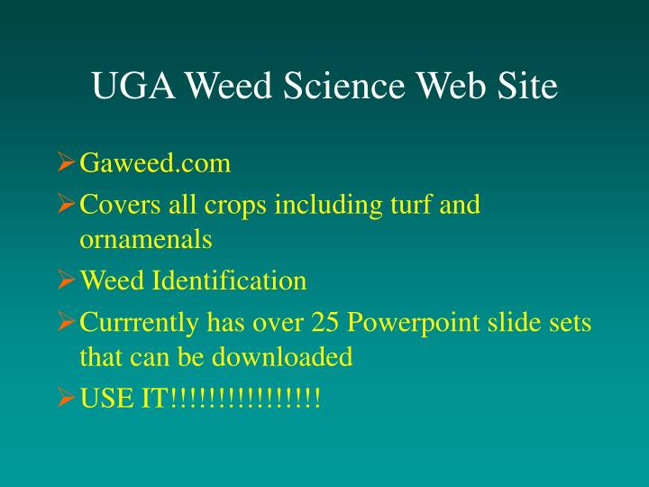 UGA Weed Science Web Site