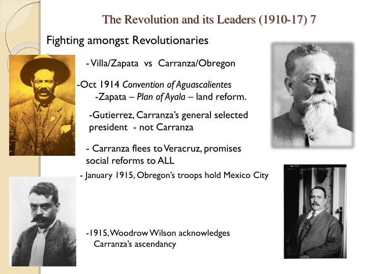 The Revolution and its Leaders (1910-17) 7