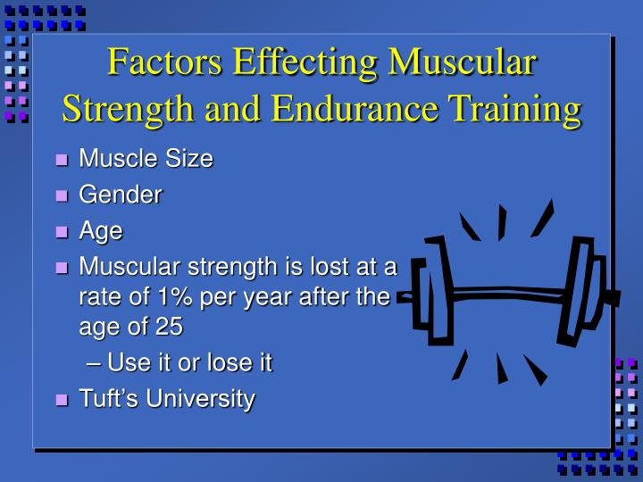 Factors Effecting Muscular Strength and Endurance Training