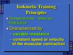isokinetic training principles