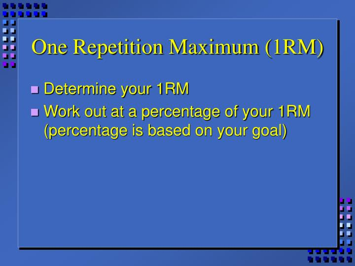 One Repetition Maximum (1RM)