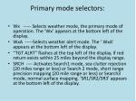 primary mode selectors