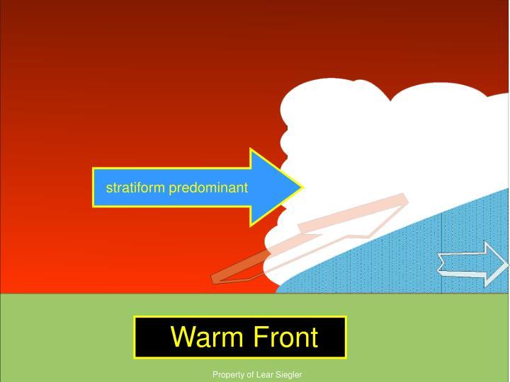 stratiform predominant