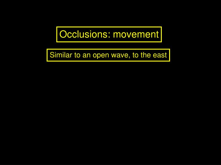 Occlusions: movement