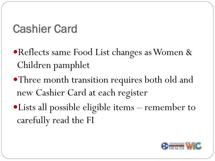 Cashier Card