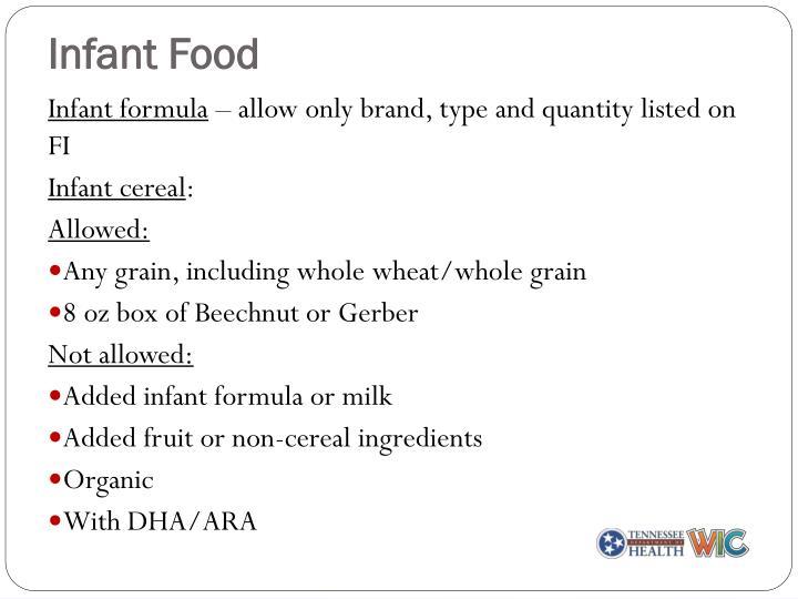 Infant Food