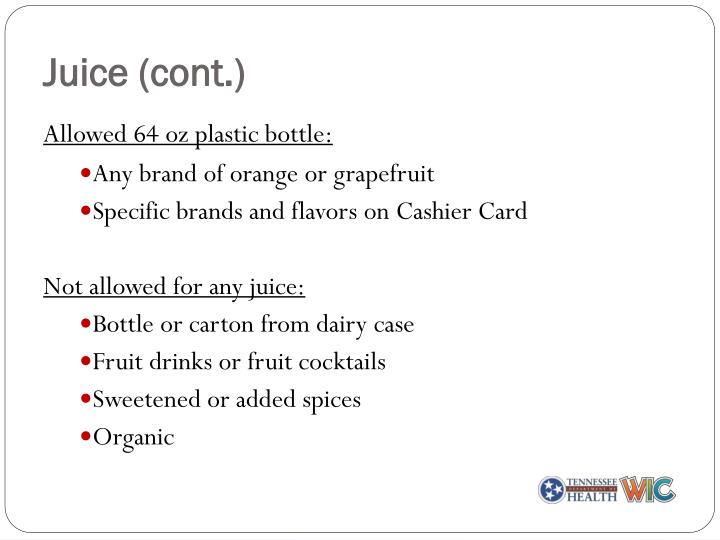 Juice (cont.)