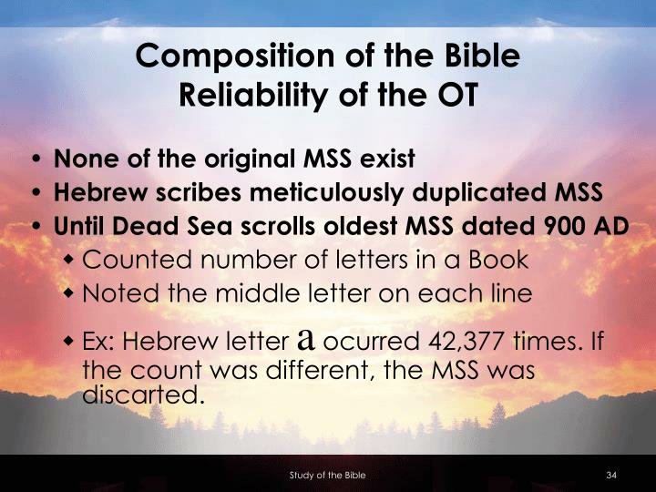 Composition of the Bible