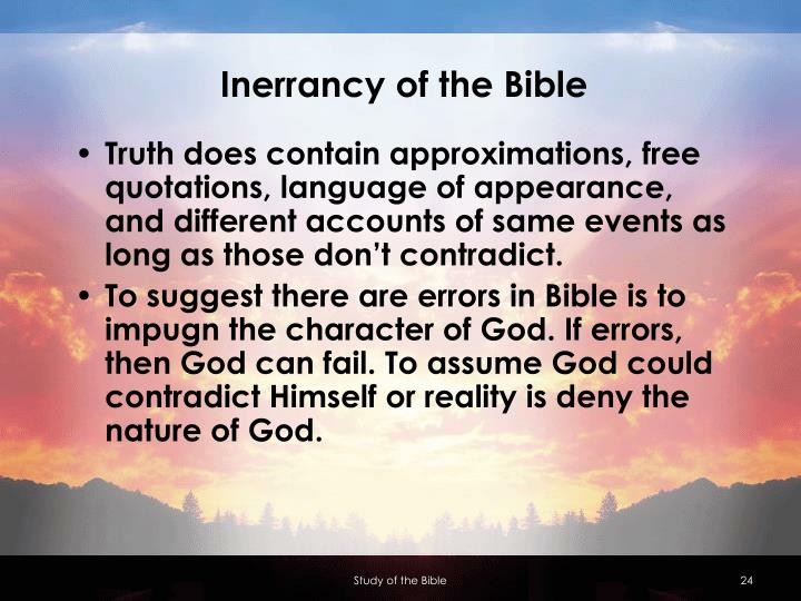 Inerrancy of the Bible