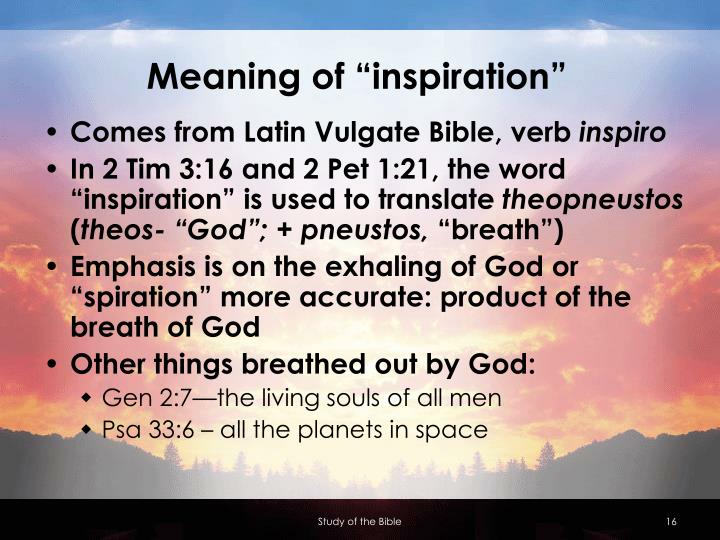 "Meaning of ""inspiration"""