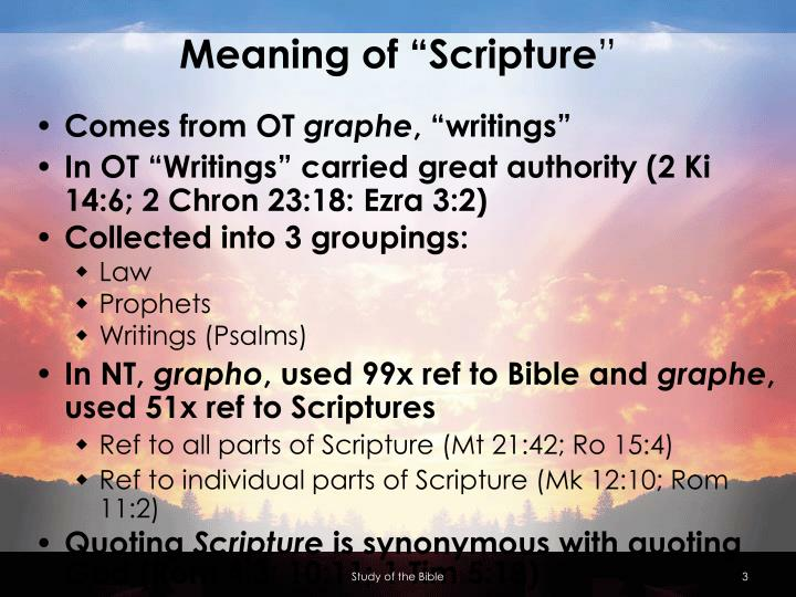 "Meaning of ""Scripture"