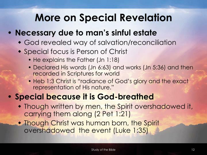 More on Special Revelation