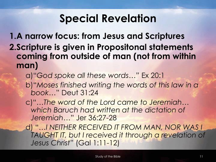 Special Revelation